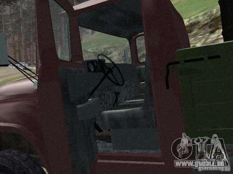 ZIL 130 à bord pour GTA San Andreas vue arrière