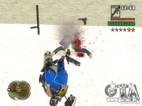Robot de Portal 2 # 3 pour GTA San Andreas troisième écran