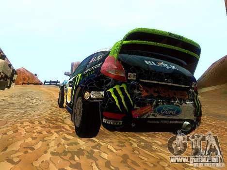 Ford Fiesta RS WRC 2012 pour GTA San Andreas sur la vue arrière gauche