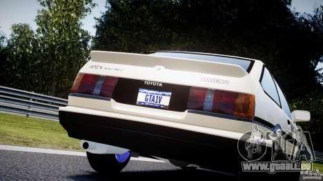 Toyota AE86 TRUENO Initial D pour GTA 4 est un côté