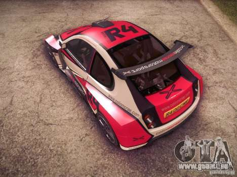 Colin McRae R4 pour GTA San Andreas vue de dessus