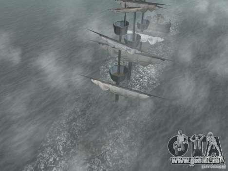 Bateau pirate pour GTA San Andreas quatrième écran