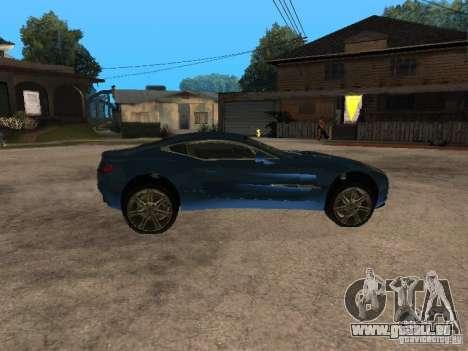 Aston Martin One77 für GTA San Andreas linke Ansicht