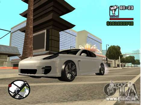 Porshe Panamera für GTA San Andreas linke Ansicht
