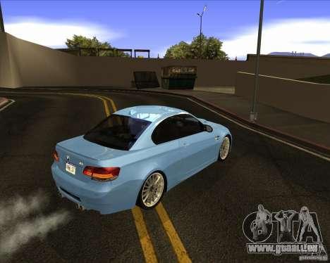 BMW M3 Convertible 2008 pour GTA San Andreas vue de droite