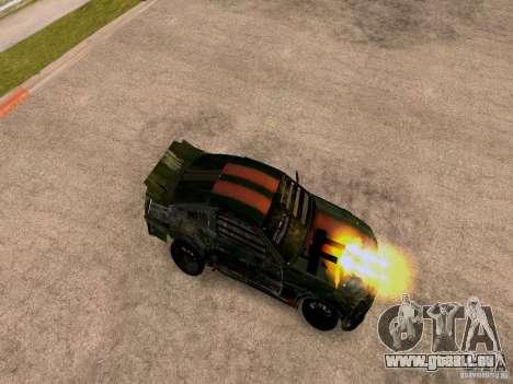 Ford Mustang Death Race für GTA San Andreas zurück linke Ansicht