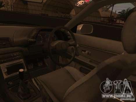 Nissan Skyline GTS R32 JDM pour GTA San Andreas vue de dessous