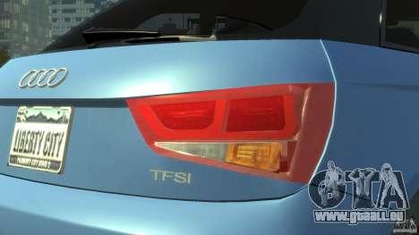 Audi A1 pour GTA 4 est une vue de l'intérieur