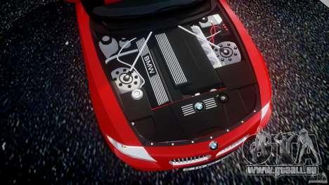 BMW Z4 Roadster 2007 i3.0 Final pour GTA 4 Vue arrière