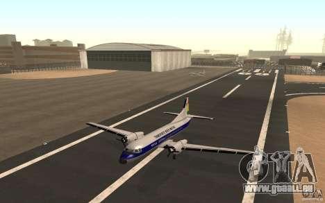 YS-11 für GTA San Andreas zurück linke Ansicht