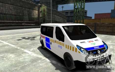 Opel Vivaro Hungarian Police Van für GTA 4 Rückansicht