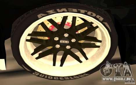 Mitsubishi Lancer Evolution X Monster Energy pour GTA San Andreas vue de dessous