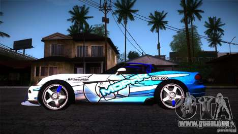 Dodge Viper Mopar Drift pour GTA San Andreas laissé vue