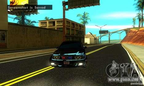 BMW M5 E39 2003 pour GTA San Andreas vue arrière