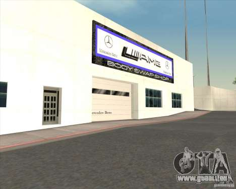 AMG showroom für GTA San Andreas her Screenshot