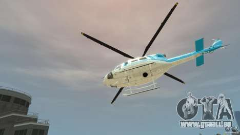 NYPD Bell 412 EP pour GTA 4 Vue arrière