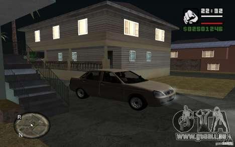 LADA Priora leichte tuning für GTA San Andreas rechten Ansicht