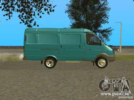 Gazelle 2705 pour GTA San Andreas sur la vue arrière gauche