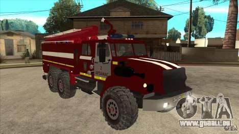 Ural pompier 43206 pour GTA San Andreas vue arrière