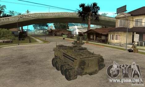 Stryker CDMW2 pour GTA San Andreas sur la vue arrière gauche