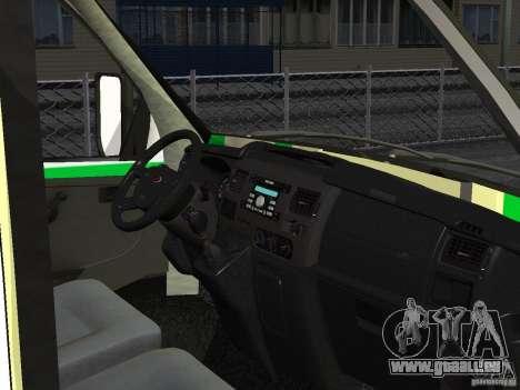Business 3302 gazelle pour GTA San Andreas vue de dessus