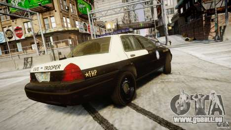 Ford Crown Victoria Fl Highway Patrol Units ELS pour GTA 4 vue de dessus