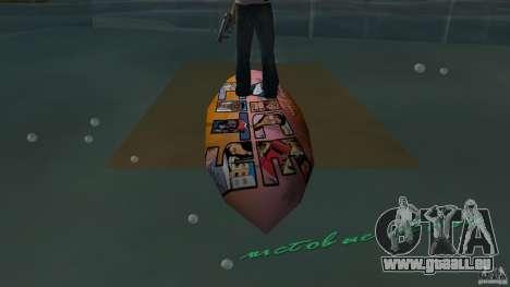Surfboard 1 pour une vue GTA Vice City de la droite