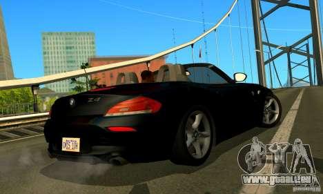 BMW Z4 2010 pour GTA San Andreas vue intérieure