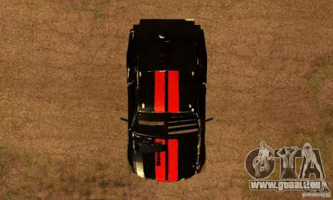 Ford Mustang Shelby GT500 From Death Race Script für GTA San Andreas rechten Ansicht