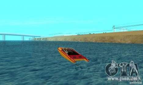 GTAIV Jetmax pour GTA San Andreas sur la vue arrière gauche