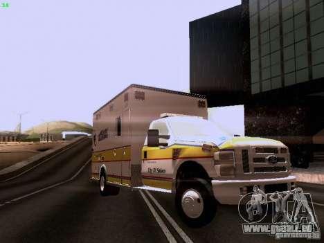 Ford F-350 Ambulance pour GTA San Andreas vue de droite