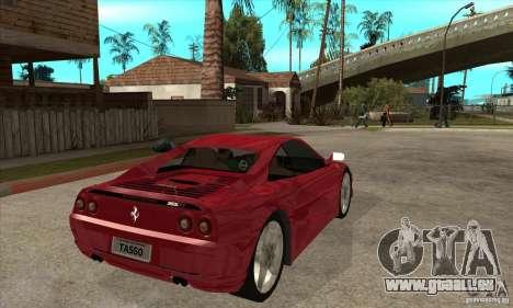 Ferrari F355 GTS pour GTA San Andreas vue de droite