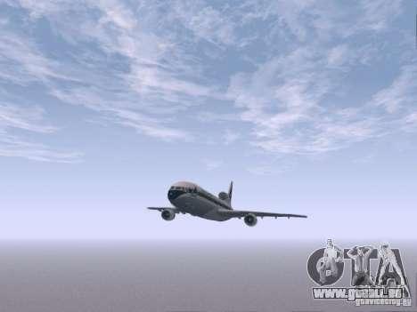 L1011 Tristar Delta Airlines pour GTA San Andreas vue intérieure