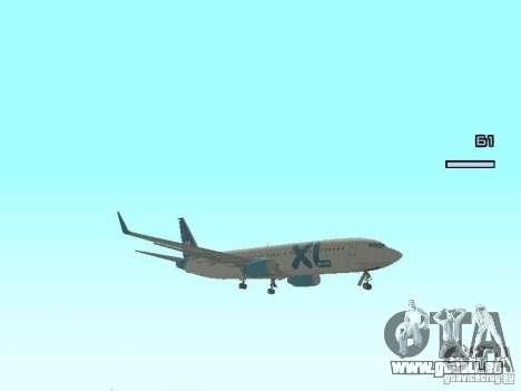 XL Airways 737-800 pour GTA San Andreas laissé vue