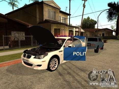 BMW 5-er Police pour GTA San Andreas vue de côté