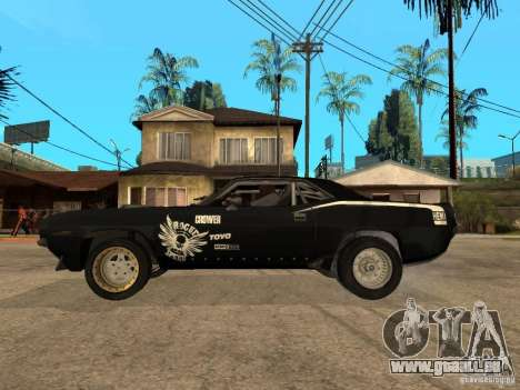Plymouth Hemi Cuda Rogue Speed pour GTA San Andreas laissé vue