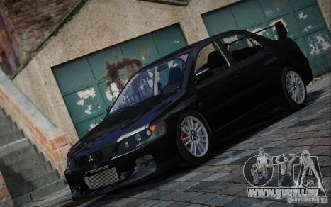 Mitsubishi Lancer Evolution IX MR 2006 für GTA 4 hinten links Ansicht