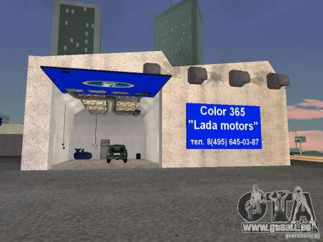 Auto VAZ pour GTA San Andreas cinquième écran