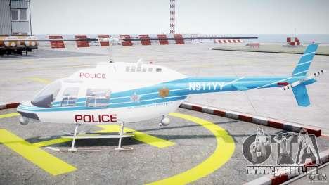 Bell 206 B - Chicago Police Helicopter für GTA 4 linke Ansicht