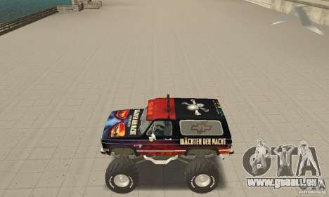 Chevrolet Blazer K5 Monster Skin 5 pour GTA San Andreas
