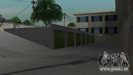 Structure des garages et bâtiments en fo pour GTA San Andreas sixième écran