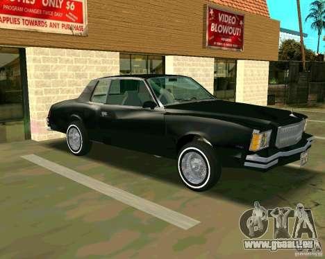 Chevrolet Monte Carlo 1979 pour GTA San Andreas laissé vue