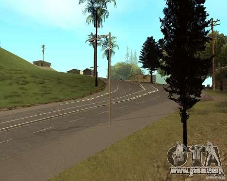 Construction de nouvelles routes en Vinewoode (L pour GTA San Andreas deuxième écran