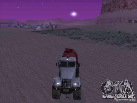 Camion KrAZ-255 carburant pour GTA San Andreas vue de droite