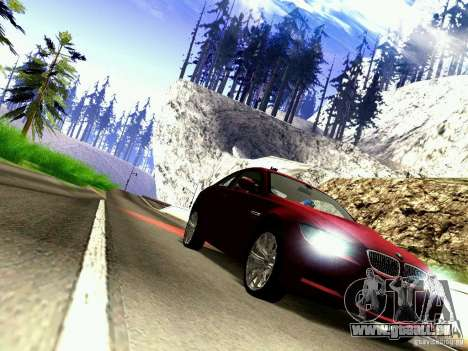 BMW M3 MotoGP SafetyCar pour GTA San Andreas vue arrière