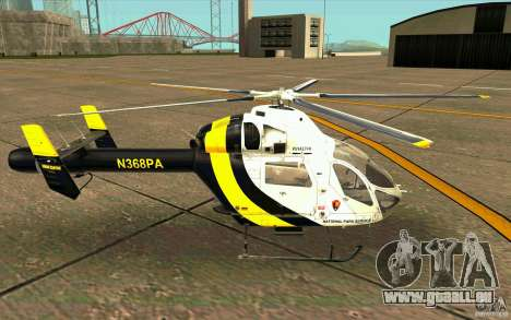 MD 902 Explorer pour GTA San Andreas laissé vue