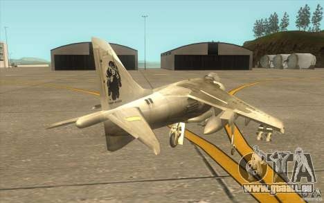 Harrier GR7 für GTA San Andreas rechten Ansicht