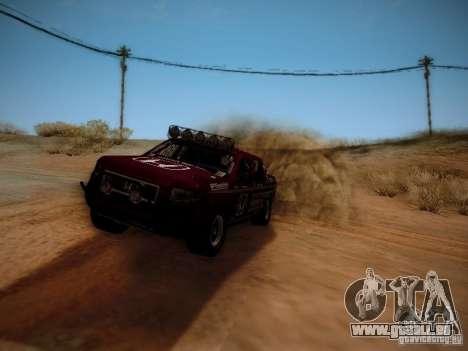 Honda Ridgeline Baja pour GTA San Andreas sur la vue arrière gauche