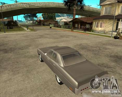 1972 Plymouth Fury III Stock für GTA San Andreas linke Ansicht