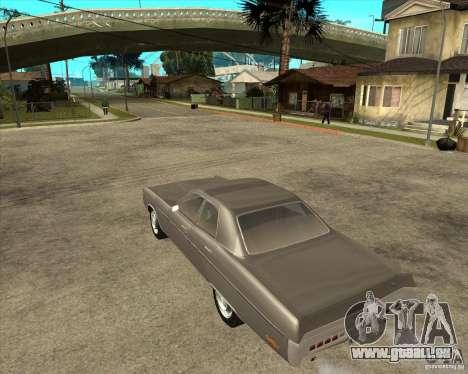 1972 Plymouth Fury III Stock pour GTA San Andreas laissé vue